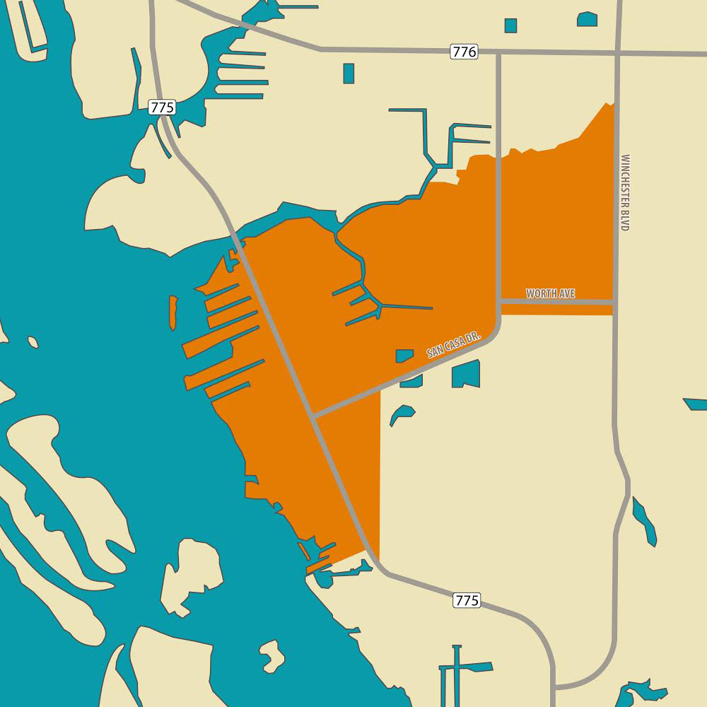 Map showing Opportunity Zone in Charlotte County